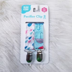 NEW Bumkins 2 piece Pacifier Clips